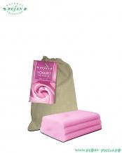 Мыло «Йогурт и розовое масло» в холщевом мешочке 100г